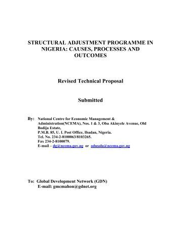 structural adjustment programmes in tanzania Diversification which structural adjustment offered4 in 1986, tanzania officially entered into agreement with the imf and the structural adjustment programme (sap .