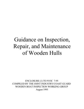 Inspection of Wooden Vessels - L-36 Fleet