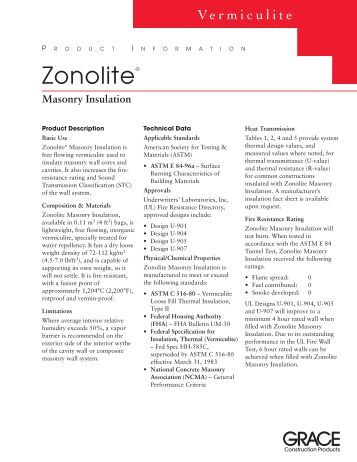 Zonolite® - Grace Construction Products