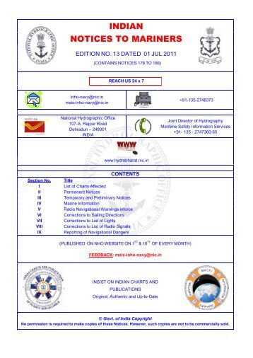 Edition 13 of 2011. - Indian Naval Hydrographic Department