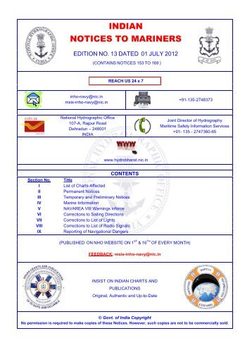 Edition 13 of 2012 - Indian Naval Hydrographic Department
