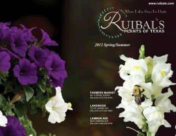 2012 Spring/Summer - Ruibal's Plants of Texas