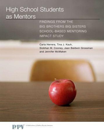 High School Students as Mentors - National Mentoring Partnership