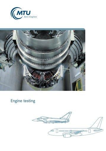 Engine testing - MTU Aero Engines