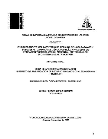 S - Instituto de Investigación de Recursos Biológicos Alexander von