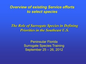Species - U.S. Fish and Wildlife Service