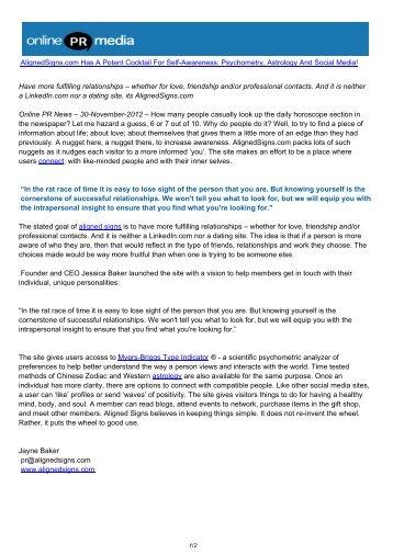AlignedSigns.com Has A Potent Cocktail For Self-Awareness ...