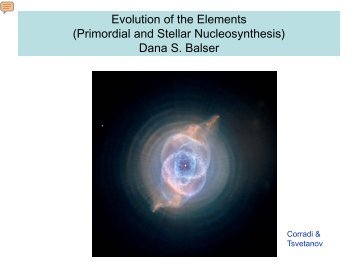 evolution nucleosynthesis principle stellar