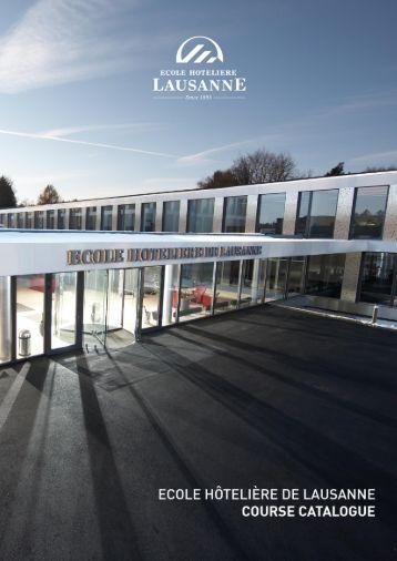 EHL Course Catalogue 2011-2012 - Ecole Hôtelière de Lausanne