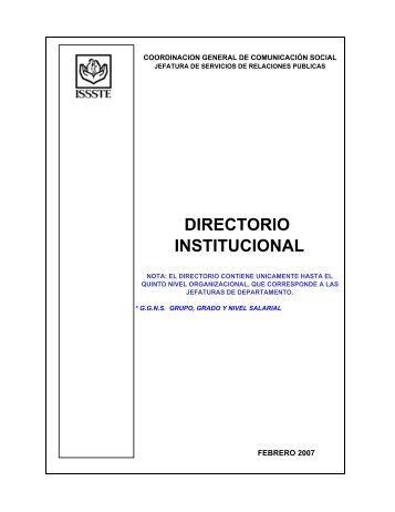 DIRECTORIO INSTITUCIONAL - issste