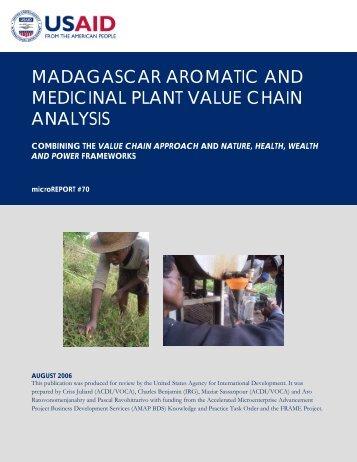 Madagascar Aromatic and Medicinal Plants Value - Microlinks