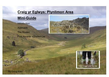 Craig yr Eglwys: Plynlimon Area Mini-Guide - The Climbers' Club