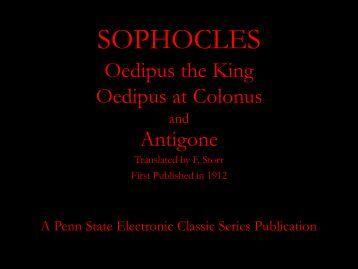 SOPHOCLES - Penn State University