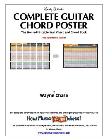 The Ultimate Guitar Chord Chart Ii By Phillip J Facoline - the ...