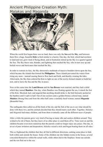 malakas at si maganda creation myth