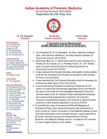 Indian Academy of Forensic Medicine - Official website of IAFM