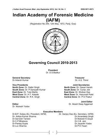 Indian Academy of Forensic Medicine (IAFM) - Official website of IAFM