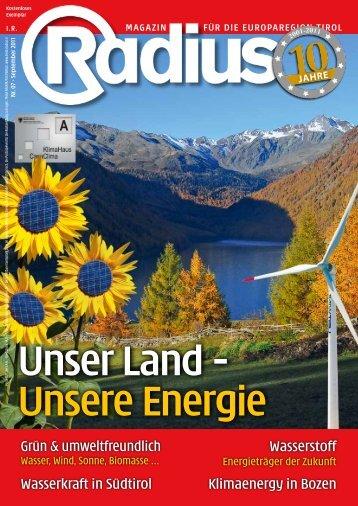 Radius Unser Land Unsere Energie 2011
