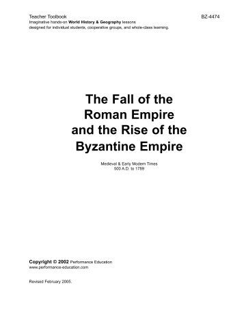 the slow decline of the byzantine empire The byzantine empire lasted for a millennium after the fall of the roman empire,   policy, and it made coordination of military and civil policy slow and difficult.