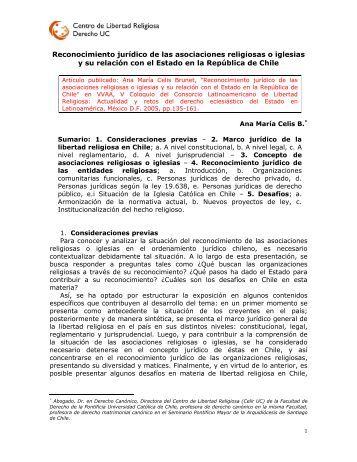 Reconocimiento jurídico de las asociaciones religiosas o iglesias y ...