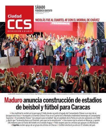 Maduro anuncia construcción de estadios de beisbol y fútbol para Caracas
