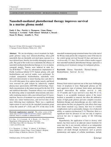 nanoshells essay Repository citation chhetri, suyog jung, efficacy of gold silica nanoshells and gold nanorods for photothermal therapy of human glioma spheroids (2013).