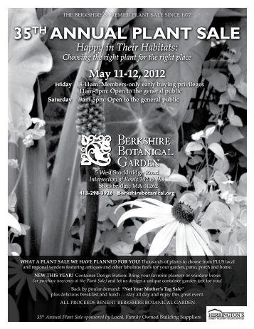 Berkshire Botanical Garden 35th Annual Plant Sale