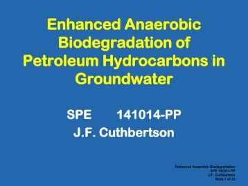 biodegradation of hydrocarbons from crude oil Several bacterial species have been identified as having the ability for oil  degradation in general, bacillus sp has been identified as petroleum  hydrocarbon.