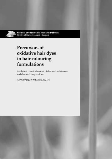 Precursors of oxidative hair dyes in hair colouring formulations