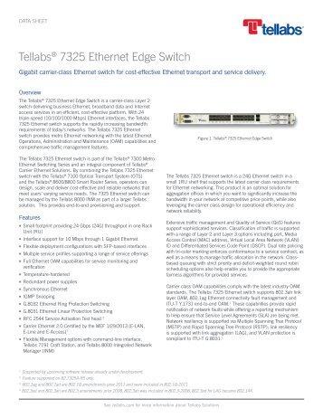 Tellabs 7325 Ethernet Edge Switch
