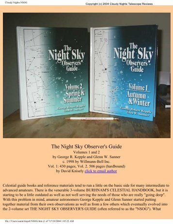 The Night Sky Observer's Guide - Cloudy Nights