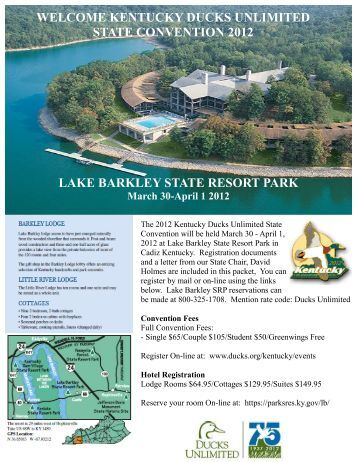 a Convention Flyer and Registration - Ducks Unlimited