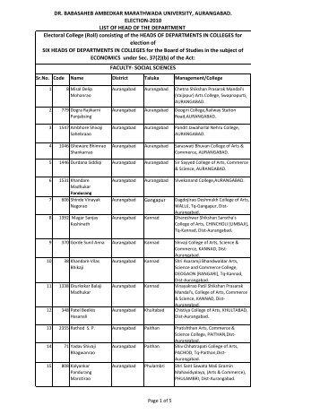 Economics - Dr.Babasaheb Ambedkar Marathwada University ...
