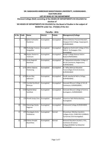 Marathi - Dr.Babasaheb Ambedkar Marathwada University ...