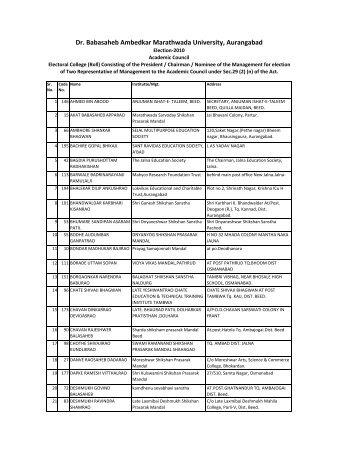 Management - Dr.Babasaheb Ambedkar Marathwada University ...