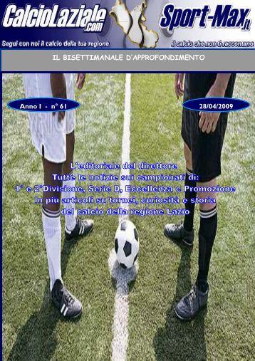 Approfondimento n.61 - martedi 28 aprile - Calcio Laziale