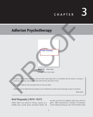 an overview of adlerian psychotherapy Depression prevention, conceptualization, and treatment through adlerian  psychotherapy ashley ebersole mckendree university author's note: this  paper.