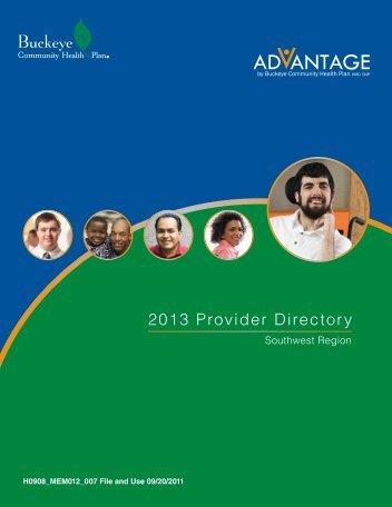 SW Region Provider Directory - Medicare Advantage - Buckeye ...