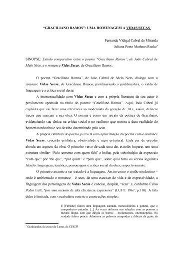Graciliano Ramos - uma homenagem a Vidas Secas