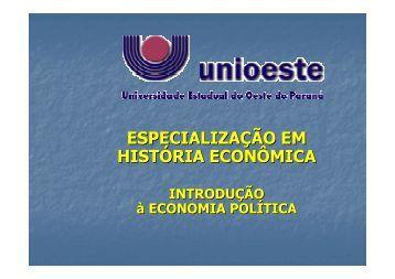 Sinival - Introdução à Economia Política - versão final - Unioeste
