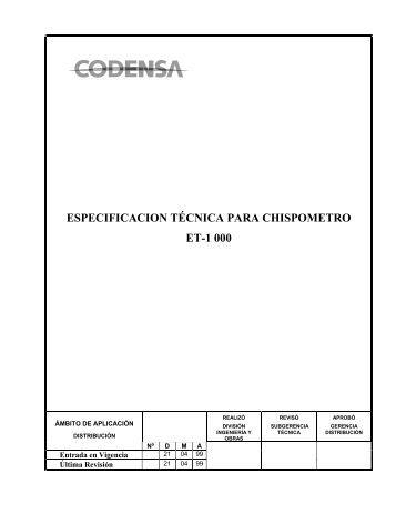 ESPECIFICACIONES TÉCNICAS DE ... - Codensa
