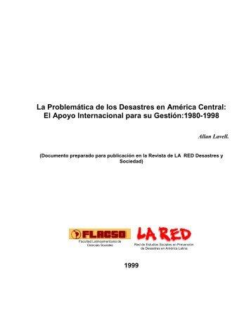 La Problemática de los Desastres en América Central - La RED