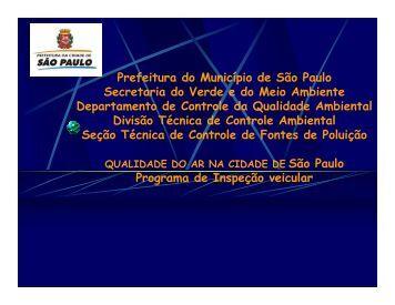 Prefeitura do Município de São Paulo Secretaria do Verde e ... - PAOT