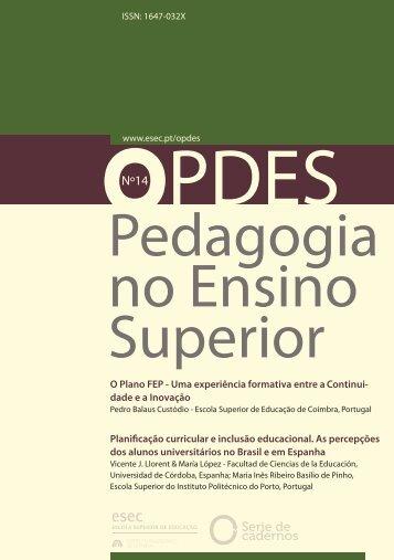 Pedagogia no Ensino Superior (14) - ESEC