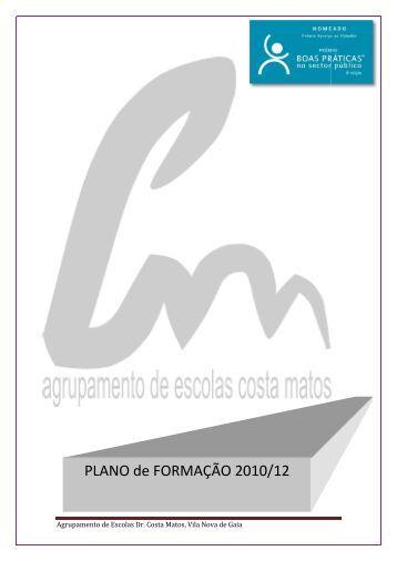 PLANO DE FORMAÇÃO - Agrupamento de Escolas Dr. Costa Matos