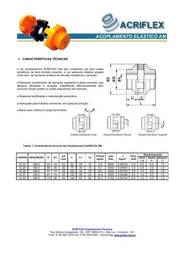 Acoplamento de Dupla Cruzeta - ACRIFLEX - Acoplamentos Flexíveis