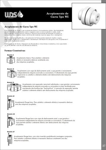 Acoplamento de Garra Tipo WE - WDS Acoplamentos