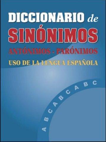 Diccionario Polifuncional - Sinónimos - Antónimos - Parónimos ...
