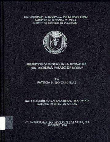 Prejuicios de género en la literatura - cdigital - Universidad ...