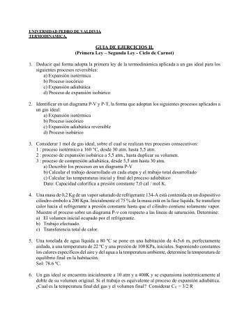 Primera Ley – Segunda Ley - Ciclo de Carnot - Universidad Pedro ...